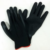Red Polyester Crinkle Latex Coated Construction Gants de travail