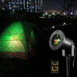 De rode Groene OpenluchtLichten van de Laser van Kerstmis, de Lichten van de Laser van het Landschap