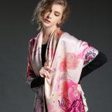 Шаль шарфа Silk печатание цифров шарфа сатинировки длинняя на осень Sp898-1