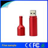 Mecanismo impulsor del flash del USB del metal de la dimensión de una variable de la botella de vino de rojo de la muestra libre 2016