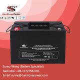 Bateria de gel solar recarregável de 12V 90ah com ácido de chumbo selado