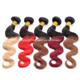 """"""" глубокий курчавый Weave Ombre волос девственницы 26 3 пачки волос 1b/Red"""