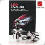 Luz do carro do diodo emissor de luz do farol H7 do diodo emissor de luz com ventilador