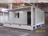Casa móvel pré-fabricada modular do recipiente do bloco liso para a acomodação