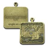 Medaglie quadrate Bronze antiche su ordinazione di figura (QL-JP-0032)