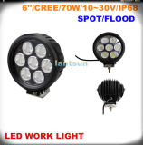 70W 6 '' Round LED Work Light Spot/Flood voor Offroad