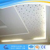 El azulejo perforado del techo del yeso/perforó la tarjeta del techo