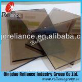 glace r3fléchissante en verre de bronze d'euro de 4mm-10mm/bronze r3fléchissant/glace r3fléchissante en bronze foncée/glace r3fléchissante teintée