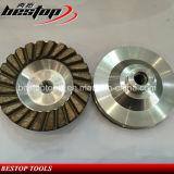 TurboWiel van het Wiel van de Kop van de Diamant van de Basis van het aluminium het Malende voor Graniet