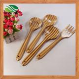 Kochender Bambuslöffel eingestellt/Küche-Hilfsmittel