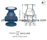 FEP Lined Swing Check Valve Flange Type Connector