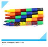 6 de Kleurpotloden van de Regenboog van kleuren voor Studenten en Jonge geitjes
