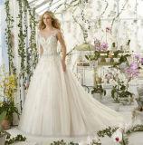 Вышивка сексуального lhbim Mermaid без бретелек отбортовывая платье венчания