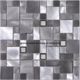 Alloy di alluminio Mixed Steel Glass Mosaic per Interior Decoration