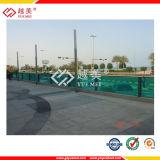 Les usines solides gravées en relief par cavité de feuille plate de PC du plastique 3mm d'UV-Protection, rident la feuille de toiture (YM-PCHS-22)