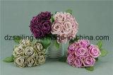Flor artificial del ramo ampliamente utilizado de Rose (SF12504/7)