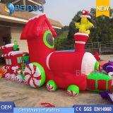 Natale su ordinazione all'ingrosso che decora il treno gonfiabile di natale degli ornamenti