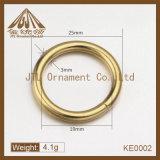 Anelli caldi del metallo di colore dell'oro di vendita 25mm Nizza di qualità di modo