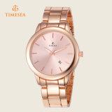 方法新しく標準的な女性の水晶ステンレス鋼のアナログの腕時計のブレスレット