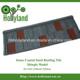 Azulejo de material para techos de acero revestido de la piedra colorida (tipo de la ripia)