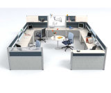 Centro de chamadas pequeno Modern Office Workstation Cubicle para 6 Person