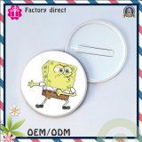 Insigne de plastique d'insigne de bouton de bidon d'usine de qualité