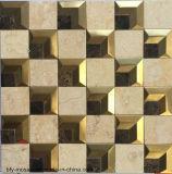 Mattonelle di mosaico Mixed dell'acciaio inossidabile dell'ultimo marmo quadrato 2016 (FYSM106)