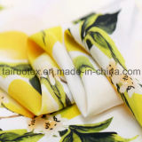 Tela de seda impressa ambiental reativa de lombo de De de Crepe para o vestido