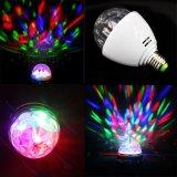 Cer RoHS Highquality 3W RGB Rotation LED Bulb Light