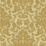 Alto PVC Vinyl Wallpaper de Grade Golden con Deep Embossed