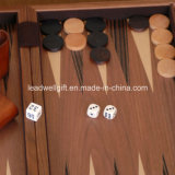 Hölzernes Backgammon-Luxuxset