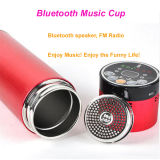 2015 Stainless único Steel Thermos Cup Bluetooth Music Cup con Bluetooth Speaker