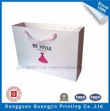 Paper Art couleur rose Imprimé Sac à provisions avec ruban