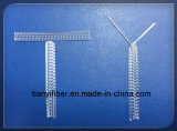 Polypropylen-Rohfaser-makro synthetische Faser für verstärkten Beton