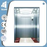 Лифт пассажира с кабиной нержавеющей стали зеркала вытравливания