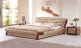 寝室の家具のホーム家具の革柔らかいベッド