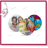 Custom Designの30cm Round Plain Sublimation Glass Clock