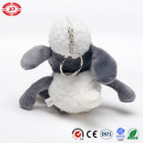 Brinquedo enchido de Shaun do CE do luxuoso de Keychain dos carneiros mini presente minúsculo
