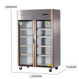 Холодильник кухни тома нержавеющей стали двойных дверей большой