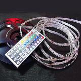 RGB LEDの滑走路端燈防水12V 5m SMD 5050は300のLEDsまたは+44のキーIRのリモートコントローラを転送する