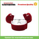 Doos de van uitstekende kwaliteit van de Ring van de Juwelen van het Fluweel van de Luxe van de Douane voor Huwelijk