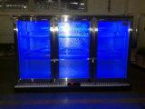 Refrigerador da barra da parte traseira de porta triplicar-se do aço inoxidável sob o refrigerador da barra