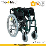 Topmedi Aluminum Power Electric Selbst-Propelled Wheelchair mit Seite Controller