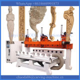 5軸線CNCの彫版機械5軸線CNCのルーター木を機械で造らせる4D CNCのルーターに4つの軸線CNCの足