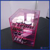 Rosafarbene Glam Eitelkeits-Acryllux-Kasten