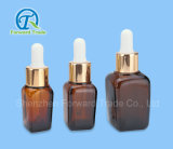 15ml botella de cristal cosmético de aceite esencial cuentagotas
