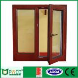 蝶番を付けられる木製の穀物のアルミニウムフレームか開き窓Windows Pnoc0017cmw