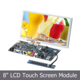 """8 """" 제어반과 가진 접촉 스크린 LCD 디스플레이 모듈"""