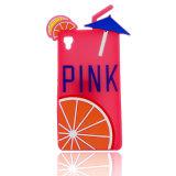 Desenhos animados cor-de-rosa macios bonitos da caixa do silicone para a tampa do telefone 7plus móvel do iPhone 7 (XSP-004)