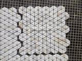 Kundenspezifische neue Art-weiße Marmormosaik-Fliesen für Wand